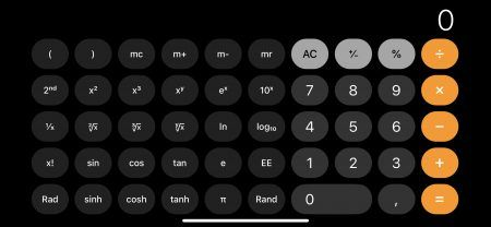 Calculadora Cientifica en iOS